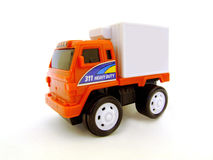 Truck. A toy truck on an isolated white background Royalty Free Stock Photo