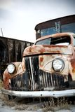 Truck abandoned. Abandoned truck in rural wyoming junkyard Stock Photography