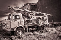 Truck  abandoned. The site of Alquife was the most important iron potential in Europe. This mining , unique for its transformed and anthropic environment , set a Stock Image