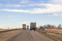 Truck Accident Royalty Free Stock Image