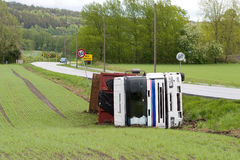 Truck Accident Stock Image