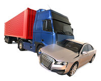 Truck accident concept Stock Images