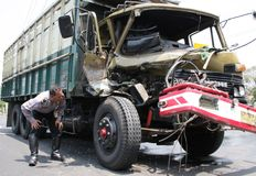 Truck accident crash Stock Images