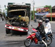 Truck accident crash Stock Image