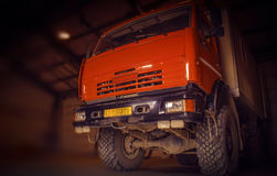Truck all terrain. Red truck all terrain SUV. June 2015 Royalty Free Stock Photography