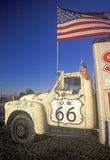 A truck along Route 66 in California Royalty Free Stock Photos