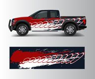 Free Truck And Car Graphic Background Wrap And Vinyl Sticker Design Vector Stock Photos - 187205233