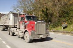 A truck, Appalachia. A coal truck in Appalachia, America stock photos