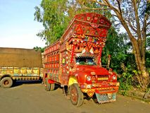 Phool Patti, Truck Art in Pakistan stock photos