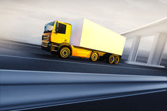 Truck on asphalt road highway Royalty Free Stock Photography