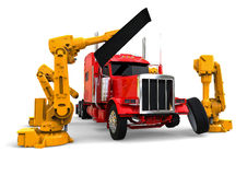 Truck assembly line Royalty Free Stock Images