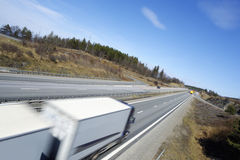 Truck At Full Speed Royalty Free Stock Photos