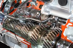 Truck automatic transmission gears Stock Photos