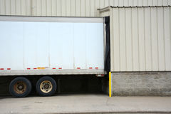 Truck backed into dock Stock Photography