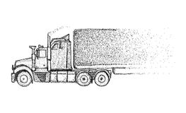 Truck -  on background Royalty Free Stock Images