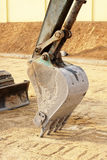 Truck Backhoe scoop stop work Royalty Free Stock Images