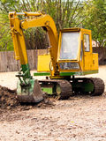 Truck backhoe Soil excavation Stock Photography