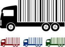 Truck with bar code Royalty Free Stock Photo