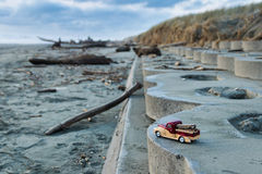 Truck Beach Wood Stock Images
