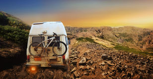 Truck with bicycle Stock Image