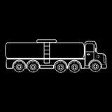 Truck big car transporting liquid gas milk Royalty Free Stock Photo