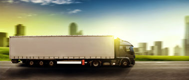 Truck. Big truck on the road Royalty Free Stock Images