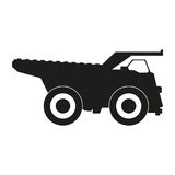 Truck black silhouette icons Vector. Black icon on white background. Stock Images