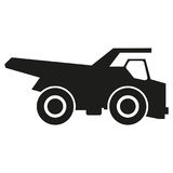Truck black silhouette icons Vector. Black icon on white background. Stock Image