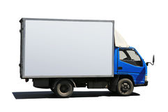 Truck with blue cabin Royalty Free Stock Photo