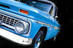 Truck. Blue Chevy pickup truck retro style restored Stock Photo