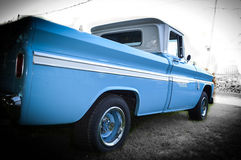 Truck. Blue Chevy pickup truck retro style restored Royalty Free Stock Photo