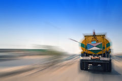Truck and the blurring royalty free stock image