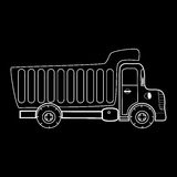 Truck with body for bulk goods Stock Images