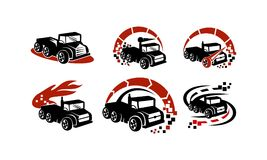 Truck Boost Speed Virtual Global Applications Dealer Set. Vector Royalty Free Stock Photo