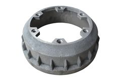 Truck brake drum on isolated royalty free stock photos