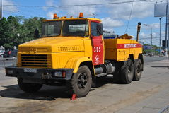 Truck breakdown service in Moscow Stock Photography