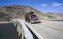 Truck on the bridge Stock Photography