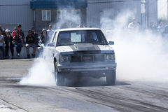 Truck burnout Royalty Free Stock Photography