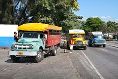 Truck buses in Cuba Stock Image