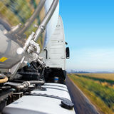 Truck Cab and Tanker Trailer royalty free stock photo