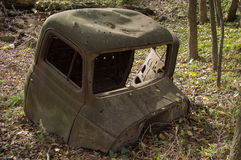 Truck Cab In Woods Stock Photography