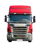 Truck Cabin. New Red Truck, Front View of the Cabin Royalty Free Stock Photo