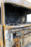 Truck cabin fire Stock Photos