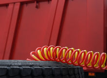 Truck cables. Stock Photos