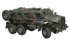 Truck camouflaged armored transport Stock Image