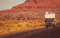 Truck Camper Arizona Trip Royalty Free Stock Images