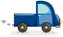 Truck car. Illustration of isolated truck car on white background Stock Photography