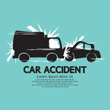 Truck And Car In An Accident Royalty Free Stock Images