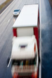 Truck and Car Blurred Motion Stock Photos