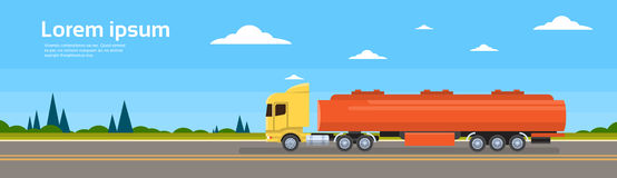 Truck Car On Road Cargo Shipping Delivery Stock Photography